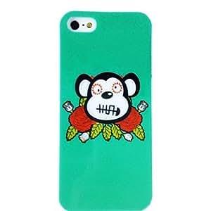 SOL Cartoon Monkey Pattern Plastic Hard Case for iPhone 4/4S