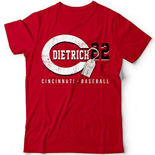 Dietrich No. 22 Reds Baseball Outfielder Players Field Home Run Hitter Champions Jersey Customized Handmade T-Shirt Hoodie/Long Sleeve/Tank Top/Sweatshirt