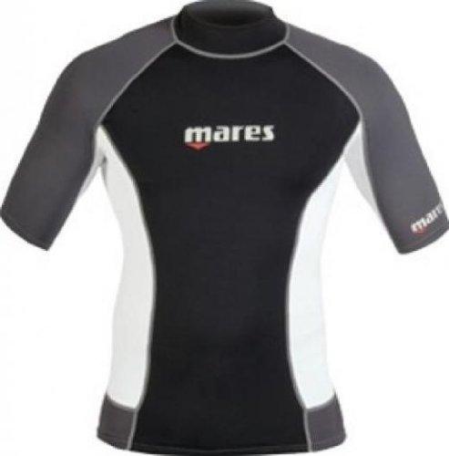 (Mares Shorts Sleeve Trilastic Rash Guard, Black Grey, X-Large)