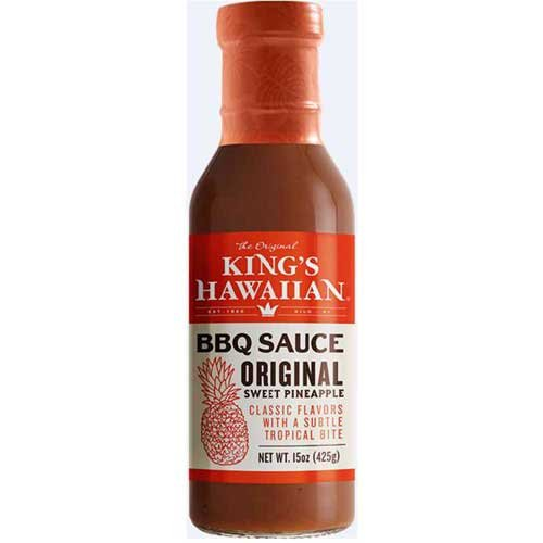 Kings Hawaiian Original Sweet Pineapple Barbecue Sauce, 15 Ounce -- 6 per - Kings Bbq Sauce