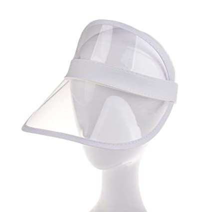 Sommer PVC Hat Sun Visor Party Casual Hat Clear Plastic Adult Sunscreen Cap