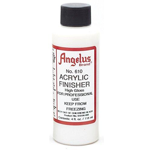 - Angelus Brand Acrylic Finisher, High Gloss No. 610, 4 Ounce Bottle (610-04-000)