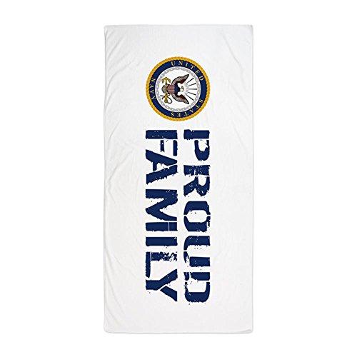 (CafePress U.S. Navy: Proud Family (Blue & White) Large Beach Towel, Soft 30