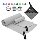 Relefree Microfiber Travel Towel, 2 Sizes Sports, Travel, Camping Towel, XL(60x30'') & XS(24X15''), Quick Dry, Ultra Absorbent, Suitable for Fitness, Camping, Swimming, Backpacking