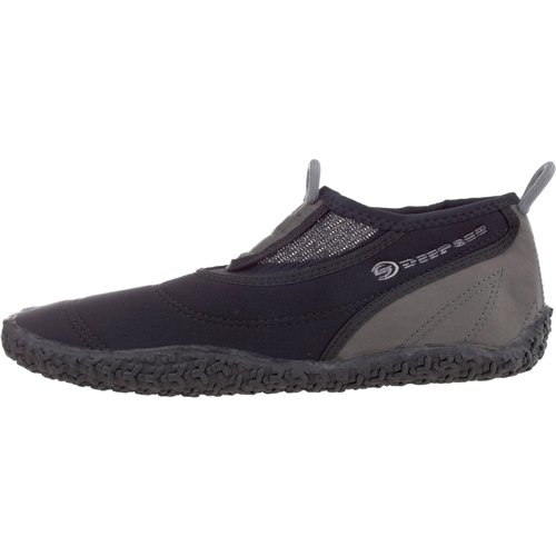 Deep See Men's Beach Walker Water Shoe (Silver/Black/Silver, 9) from Deep See