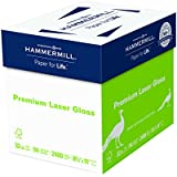 Hammermill Paper, Premium Laser Gloss Paper, 8.5 x 11 Paper, Letter Paper Paper, 32lb, 94 Bright, 8 Packs / 2,400 Sheets (163110C) Acid Free Paper