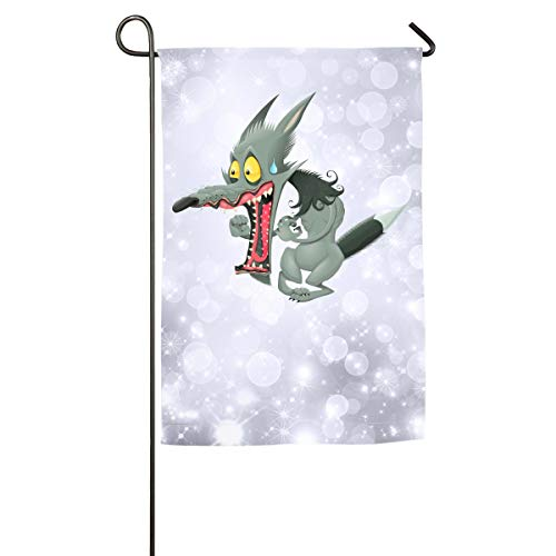 Sakanpo Surprised Little Wolf Home Family Party Flag 100 Hipster Welcomes The Banner Garden Flags