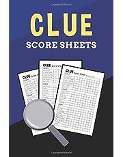 Clue Score Sheets: Clue Game Original Score Record Keeper Pocket Book, Clue Score Cards, Clue Score Pads