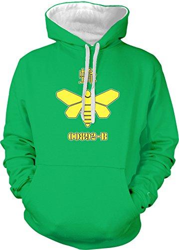 Amdesco Men's Golden Moth 892-B Heisenberg Two Tone Hoodie, Kelly/White XL ()