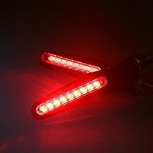 TASWK 4Pcs Motorcycle LED Turn Signal Lights Blinkers Indicator Lights. (Red)