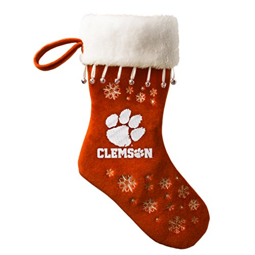 - NCAA Clemson Tigers Full Embroidered Snowflake Stocking