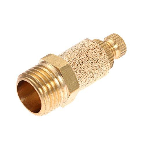 (10pcs 1/4 Pneumatic Muffler Silencer Filter Air Flow Speed Controller Sintered Bronze NPT)