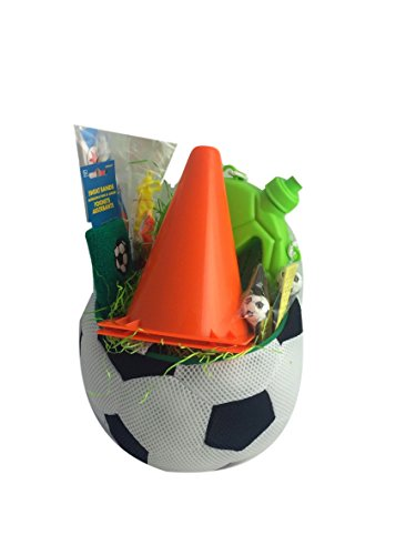 Soccer Gift Basket Box for Kids Boy or Girl Premade Prefilled for Birthday, Get Well, Prizes