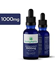 1000mg Hemp Oil for Pain, Anixety, and Stress Relief, Healthy Sleep : Organically and Outdoor Grown, Omega Rich, and Third Party Tested for Potency and Safety :: Hemphoria
