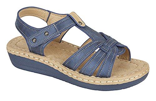 Boulevard - Zapatos con correa de tobillo mujer Azul - azul metalizado