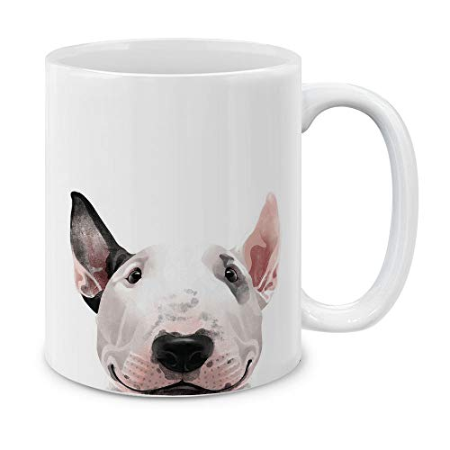 - MUGBREW Bull Terrier White Ceramic Coffee Mug Tea Cup, 11 OZ