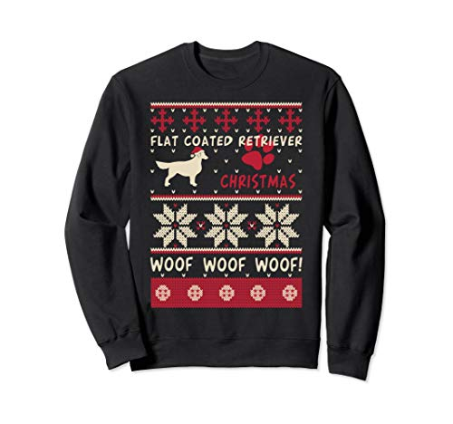 Flat Coated Retriever Ugly Christmas Sweater Pullover Jumper