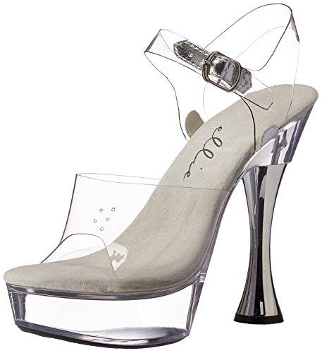Ellie Shoes Womens C-Brook Platform Sandal Clear hwUX7H