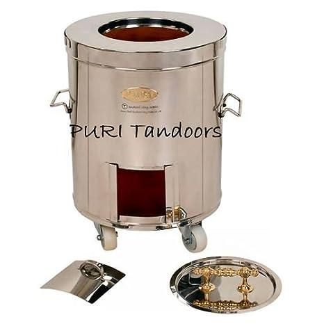 Acero inoxidable Indian Tandoori para horno arcilla - tamaño ...