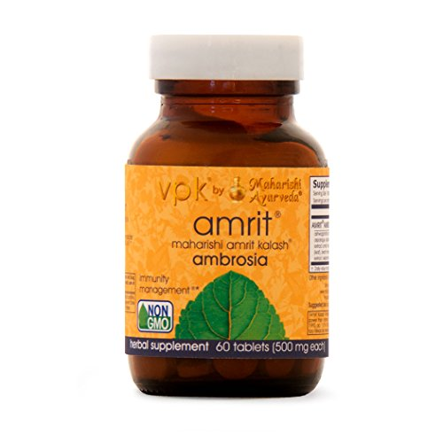 Amrit Kalash Ambrosia | 60 Herbal Tablets – 500 mg ea. | Full-Spectrum Natural Antioxidant Herbal Supplement | Powerful Support for Brain, Nerve & Immunity Health | Proven Chemotoxicity Support Review