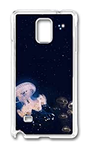 Samsung Note 4 Case,VUTTOO Stylish Jellyfish Hard Case For Samsung Galaxy Note 4 / N9100 / Note4 - PC Transparent