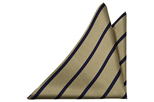 Beige Men's base blue Silk Pocket in dark with Square Notch stripes OIqBawB
