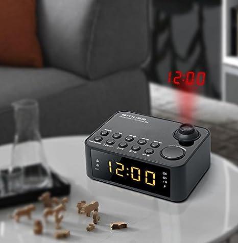 Plata, LCD, 2,29 cm 0.9 , AAA//R03//UM4, 3 V, 130 mm Despertador Muse M-165 CMR Plata