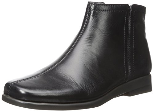 Aerosoles Women's Double Trouble 2 Ankle Bootie, Black Leather, 7.5 M US