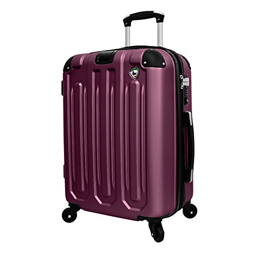 - Mia Toro Regale Composite Hardside 26 Inch Spinner, Burgundy, One Size
