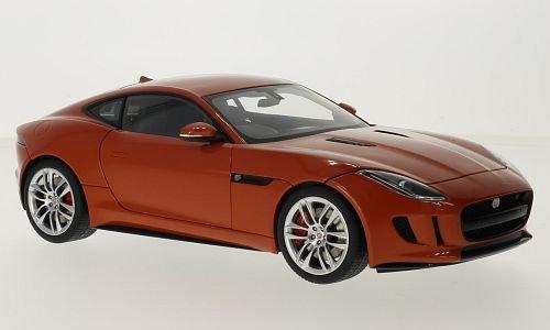 Jaguar F-Type R Coupe, metallic-dunkelOrange, RHD, 2015, Modellauto, Fertigmodell, AUTOart 1:18