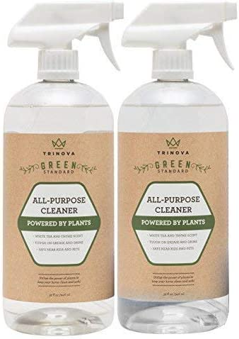 Natural All Purpose Cleaner Organic - Multi Surface Cleaning Spray for Safe Kitchen, Bathroom, Toy, Stain Removal, Counter, Wall. Non Toxic for Kids and Pets. 32oz 2-Pack 64 ounces