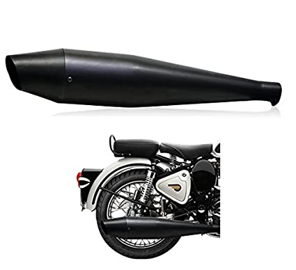 Andride Dolphin Silencer With Glasswool For Royal Enfield Bs3 Bs4