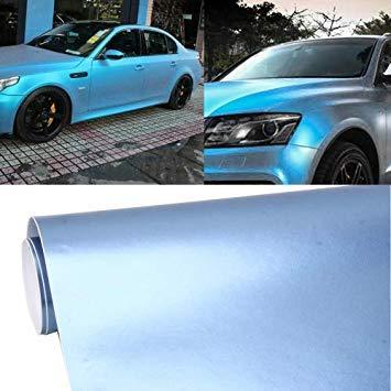Uniqus 1.52m  0.5m Car Decal Film Auto Modified Vehicle Sticker Vinyl Air Bubble Sticker Electro-Optical Film Predective Film(Baby bluee)