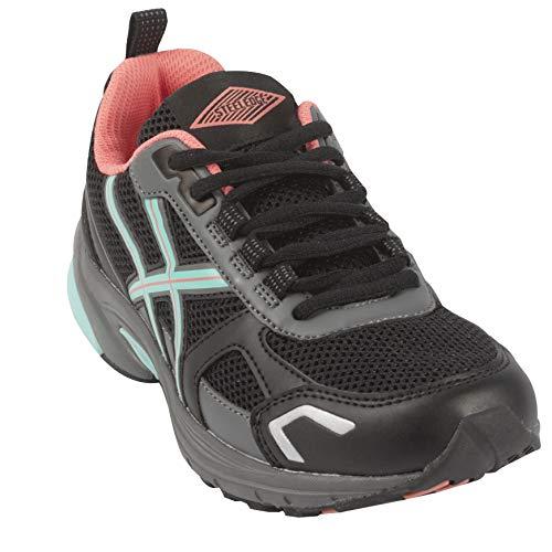 Steel Edge Women Shoes Treadmill Running Walking (9.5, Black)