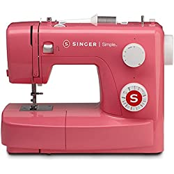 SINGER | Simple 3223R Handy Sewing Machine Including 23 Built-in Stitches, Easy Threading, Snap-on Presser Foot, Built-in Bobbin Winding