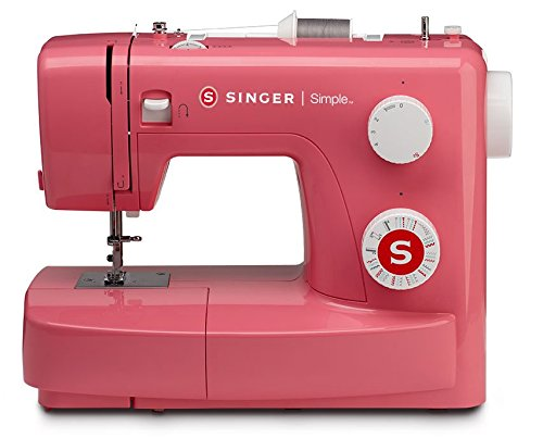 SINGER | Simple 3223R Handy Sewing Machine Including 23 Built-in Stitches, Easy Threading, Snap-on Presser Foot, Built-in Bobbin -