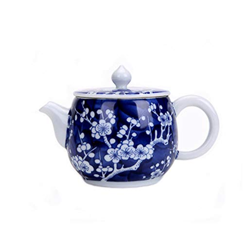 (2500 Silk Art China Jingdezhen Retro Kung Fu Tea Set Hand-painted Blue And White Porcelain Teapot Home Decoration Gifts (QH-CH))