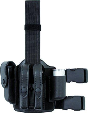 Safariland 6004 Double Strap Leg Shroud Complete Assembly Plain Black 6004-6-123