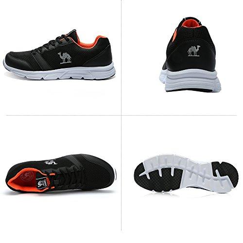 Deportivas Calzado Aire Libre Zapatos para Ciclismo Zapatillas Hombres Cómodas Moda Gimnasia negro y Camel para de Malla Ligeras Senderismo Ejercicios Caminar Deportivo Deportivas de al wqCBxdnpI