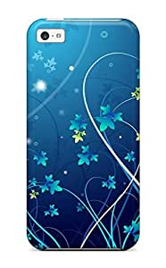 Iphone 4/4s KLTUcpG16166dHvbg Pretty Tiny Blue Flowers Tpu Silicone Gel Case Cover. Fits Iphone 4/4s