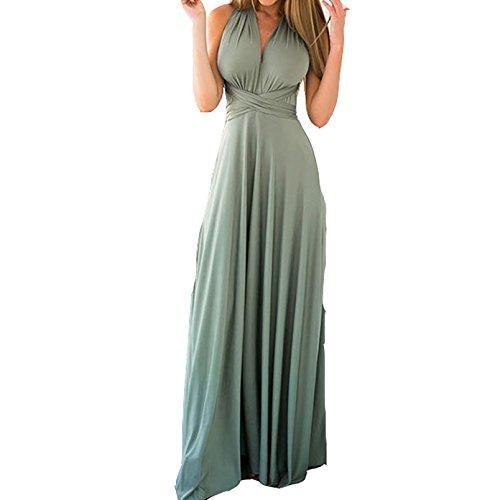 62104120938c Abendkleider Damen Cocktailkleid V-Ausschnitt Strandkleid Minikleid  Ärmellos Neckholder Maxikleid Trägerlos Rückenfrei Abendmode Kleid Lang