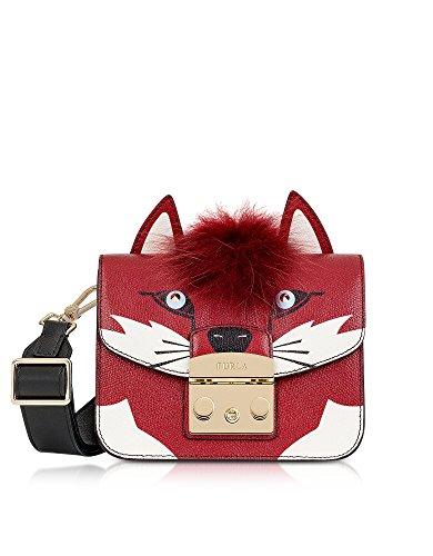 Mujer Cuero De Rojo Hombro 921335 Bolso Furla BqU07w