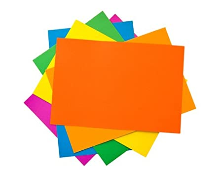 House of Card & Paper Karton, A5,220g/m² Assorted Bright/Pastel Colours (Pack of 25 Sheets) HCP40