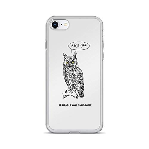 iPhone 7 Case iPhone 8 Case Clear Anti-Scratch Irritable Owl Syndrome - SFW Cover Phone Cases for iPhone 7/iPhone 8, Crystal Clear]()