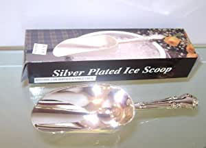 """Silver Plated Ice Scoop Spoon 8.5"""""""