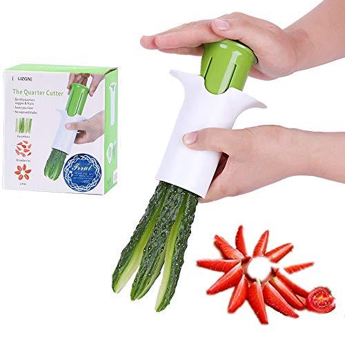 Trrut Creative Veggie Manual Wedgie Divide Cutter Fruit Vegetable Splitter Cucumbers Carrots Strawberries Slicer Chopper for Kitchen Accessories Tools