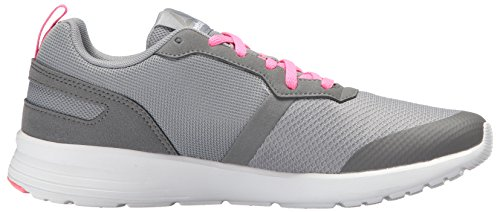 best store to get for sale cheap sale buy Reebok Women's Foster Flyer Track Shoe Flat Grey/Medium Grey/Poison Pink/White/Pewter 5X4Rvw8b