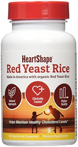 HeartShape Red Yeast Rice, 60 Count, 1200 mg