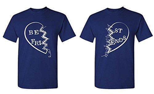 BEST FRIENDS buddies Couples T Shirt