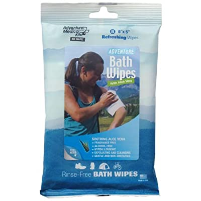 Adventure Medical Kits Adventure Bath Wipes (Travel Size, 8-Count Wipes)